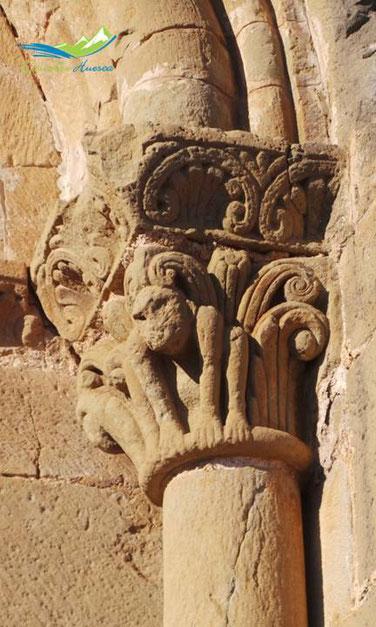 Capitel entrada castillo de loarre