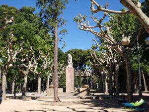 El parque Miguel Servet, en Huesca