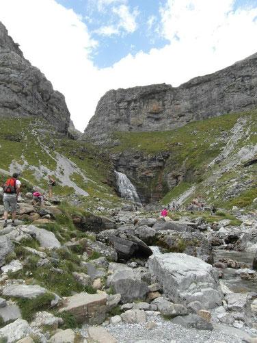 Llegando a Cola de Caballo. Foto DescubreHuesca.com