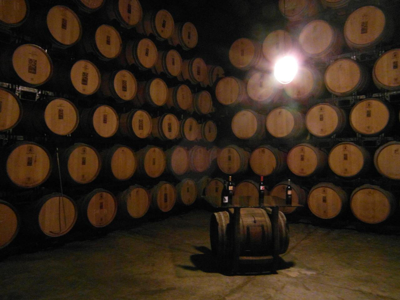"""Sala de barricas de """"Edra Bodegas"""""""