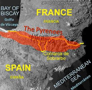 Mapa Geoparque de Sobrarbe