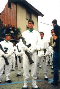 En un desfile en jaca, Verano del 96