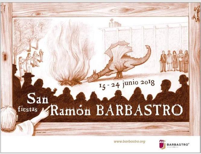 Cartel Fiestas San Ramón Barbastro 2018