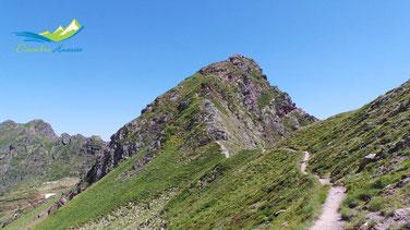 Llegando a la última subida antes del Pico de los Monjes