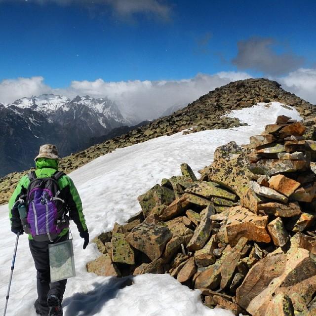 Llegando a la cumbre del Pico de Cerler