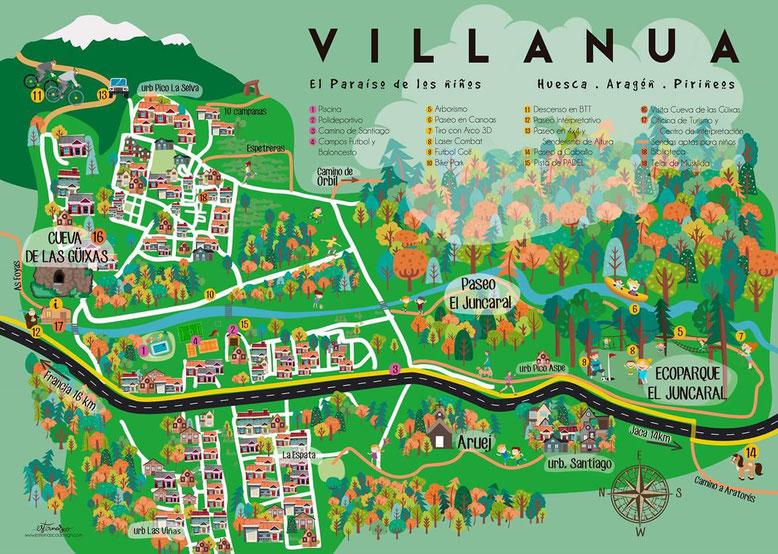 Plano turístico Villanúa