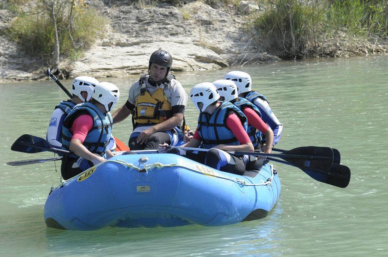 Rafting en la hoya de Huesca