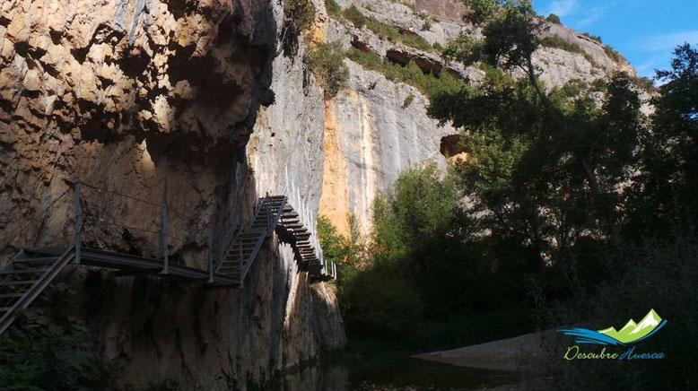 Ruta pasarelas río Vero, Alquézar.